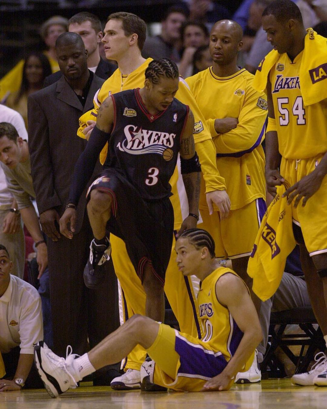 Today in Sneaker History, 2001, Allen Iverson crosses up Tyronn Lue in the NBA Finals. Is this AI's most iconic moment?