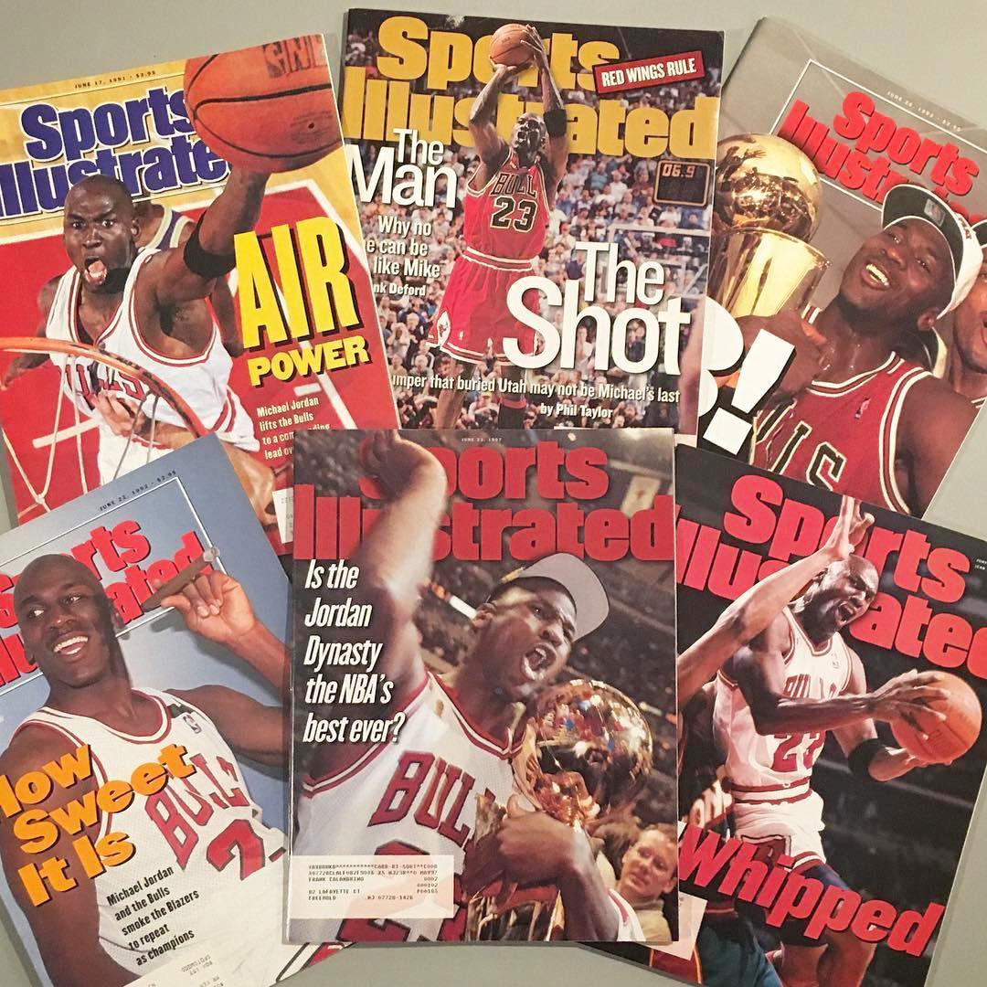 Today is June 6th (6/6), so it only makes sense to remember the fact that Michael Jordan was 6 for 6 in the NBA Finals. Here are 6 Sports Illustrated covers from each of the 6 championships. (via @frank1980cal) #GOAT #6for6 #nikestories #6 #ringsmatter