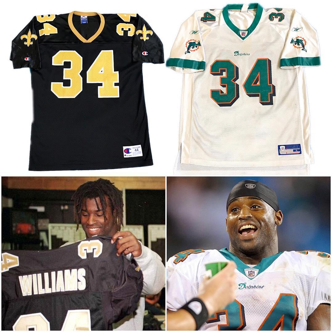 Saints Ricky or Dolphins Ricky? Both available under NFL Apparel and Jerseys on MAvintage.com 🏈📦