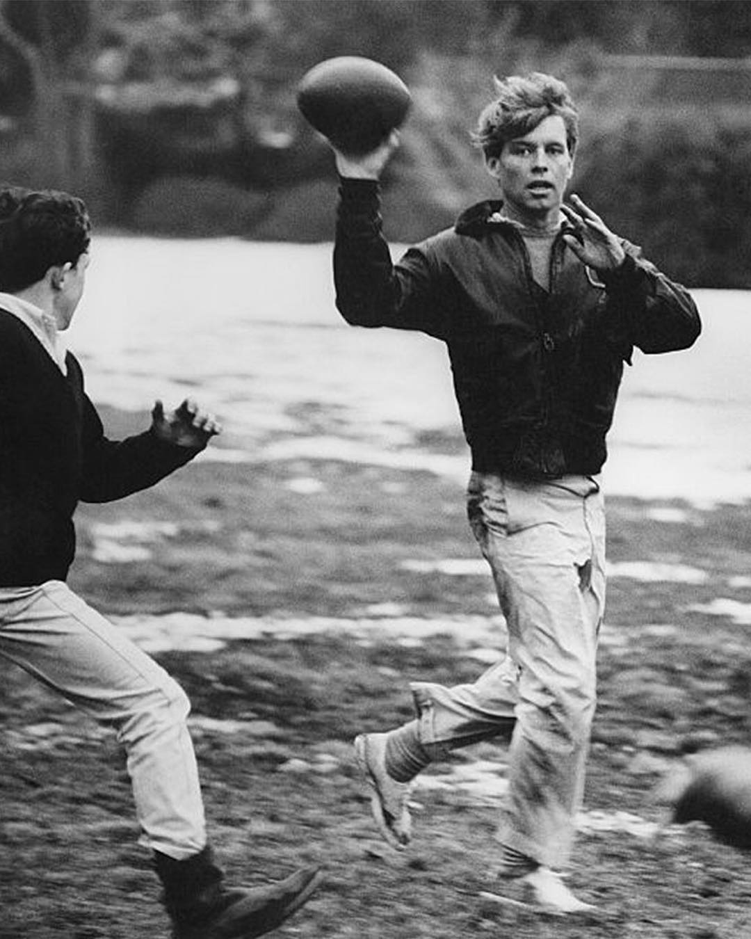 """""""All of us might wish at times that we lived in a more tranquil world, but we don't. And if our times are difficult and perplexing, so are they challenging and filled with opportunity."""" — #RFK. (📷: Steve Schapiro, 1967) #RobertKennedy #RIP"""