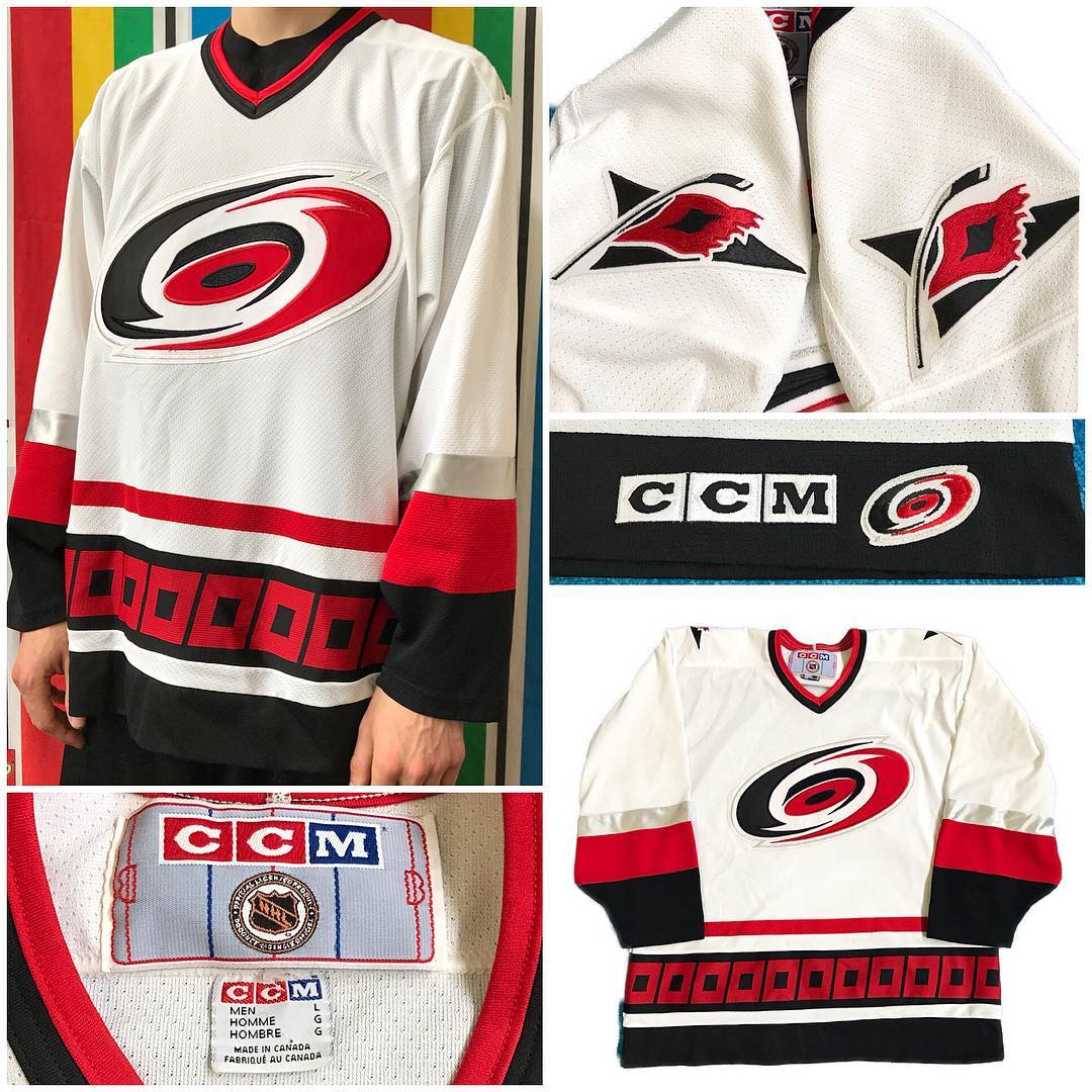 Carolina Hurricanes jersey by CCM 🏒 Marked Large, could fit XL ($60) on MAvintage.com 📦
